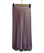 Jewel Changes(ジュエルチェンジズ)の古着「プリーツスカート」|ライラック