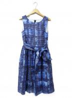Lois CRAYON(ロイスクレヨン)の古着「ノースリーブワンピース」|ネイビー