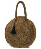 MAISON N.H PARIS(メゾンエヌアッシュパリ)の古着「サークルカゴバッグ」|ブラウン