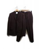 UNITED TOKYO(ユナイテッドトウキョウ)の古着「ハイカウントセットアップ」|ワインレッド