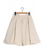 FOXEY NEWYORK(フォクシーニューヨーク)の古着「ボリュームスカート」|ベージュ