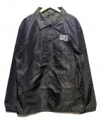 THRASHER(スラッシャー)の古着「ロゴ刺繍コーチジャケット」|ブラック