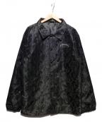 THRASHER(スラッシャー)の古着「フレイムパターンコーチジャケット」|ブラック