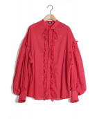 PAMEO POSE(パメオポーズ)の古着「Back To Front Ruffle Blouse」|レッド
