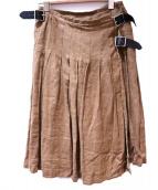 ONEIL OF DUBLIN(オニール オブ ダブリン)の古着「リネンスカート」 ブラウン