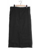 GANRYU(ガンリュウ)の古着「ロングラップスカート」|ブラック