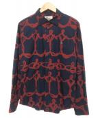 Vivienne Westwood man(ヴィヴィアンウエストウッドマン)の古着「ワイヤーORBクラシックシャツ」|ネイビー×レッド