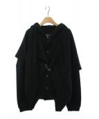 Y's(ワイズ)の古着「レイヤードジャケット」|ブラック
