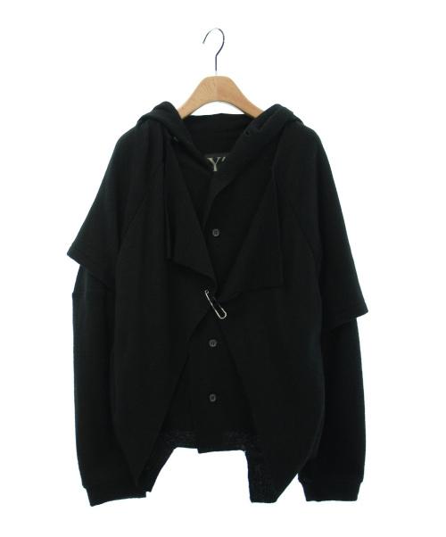 Y's(ワイズ)Y's (ワイズ) レイヤードジャケット ブラック サイズ:2 YM-T51-968の古着・服飾アイテム