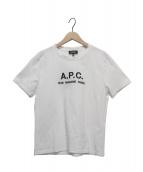 A.P.C(アーペーセー)の古着「T-SHIRTS JIMMY RUE MADAME emb」|ホワイト