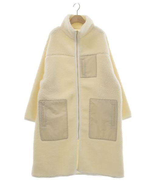 oblekt(オブレクト)oblekt (オブレクト) オーバーサイズボアコート アイボリー サイズ:F 未使用品 19AW  参考定価¥18.000 未使用品の古着・服飾アイテム