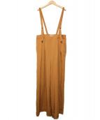 SLOBE IENA(イエナスローブ)の古着「リネンライクサスペンダーパンツ」|キャメル