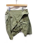 JUNYA WATANABE COMME des GARCONS(ジュンヤワタナベコムデギャルソン)の古着「デザインスカート」 オリーブ