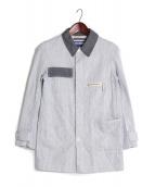 JUNYA WATANABE COMME des GARCONS MAN(ジュンヤワタナベ コムデギャルソン マン)の古着「切替カラーシャツジャケット」|ブルー×ホワイト