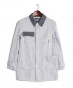 JUNYA WATANABE COMME des GARCONS MAN(ジュンヤワタナベコムデギャルソンマン)の古着「切替カラーシャツジャケット」|ブルー×ホワイト