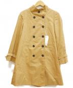 Rouge vif(ルージュヴィフ)の古着「ライナー付スタンドカラーコート」 キャメル