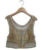 UN3D.(アンスリード)の古着「エンブロイダリービスチェ」|ベージュ
