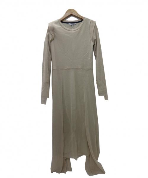 UN3D.(アンスリード)UN3D. (アンスリード) メッシュアシメロングワンピース ベージュ サイズ:36 未使用品 参考定価¥28.000 521910300901の古着・服飾アイテム