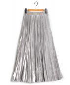 UN3D.(アンスリード)の古着「シャイニーオリガミスカート」|シルバー
