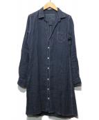 Frank&Eileen(フランクアンドアイリーン)の古着「スキッパーロングシャツ」|ネイビー