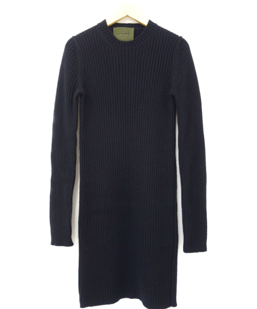LOEWE(ロエベ)LOEWE (ロエベ) カシミヤニットワンピース ブラック サイズ:Mの古着・服飾アイテム