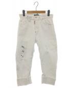 DSQUARED2(ディースクエアード)の古着「ダメージ加工デニムパンツ」|ホワイト