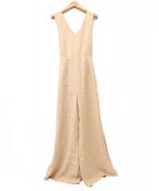 eimy istoire(エイミー イストワール)の古着「バッククロスロンパース」|ベージュ