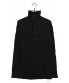 yohji yamamoto+Noir(ヨウジヤマモトプリュスノアール)の古着「ハイネックニット」|ブラック
