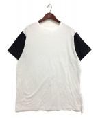 YohjiYamamoto pour homme(ヨウジヤマモトプールオム)の古着「バイカラーカットソー」|ホワイト