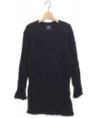 B Yohji Yamamoto(ビーヨウジヤマモト)の古着「17AW ねじれデザインカットソー」|ブラック