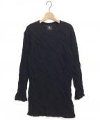 B Yohji Yamamoto(ビーヨウジヤマモト)の古着「17AW ねじれデザインカットソー」 ブラック