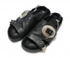 TOGA PULLA(トーガ プルラ)の古着「metal emboss sandals サンダル」|ブラック