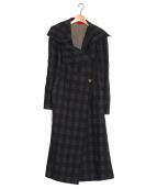 Vivienne Westwood RED LABEL(ヴィヴィアンウエストウッド レッドレーベル)の古着「ビッグカラーチェックコート」