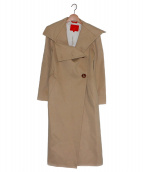 Vivienne Westwood RED LABEL(ヴィヴィアンウエストウッド レッドレーベル)の古着「ビッグカラーコート」|ベージュ