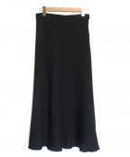 ROPE mademoiselle(ロペマドモアゼル)の古着「サテンマーメイドスカート」 ブラック
