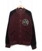 POLO RALPH LAUREN(ポロ・ラルフローレン)の古着「コットンフリーススタジャン ジャケット」|ボルドー