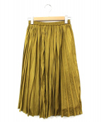 ROSSO(ロッソ)の古着「ヴィンテージサテンプリーツスカート」|カーキ