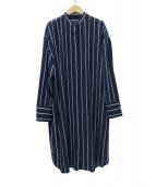 icB(アイシービ)の古着「TenderStripeシャツワンピース」|ネイビー