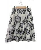 TOCCA(トッカ)の古着「カットジャガードラップスカート」|オフホワイト