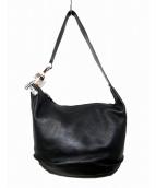 Jean Paul GAULTIER(ジャンポールゴルチェ)の古着「デザインレザーショルダーバッグ」|ブラック