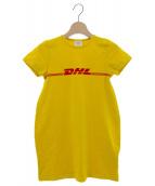 VETEMENTS(ヴェトモン)の古着「DHLロゴTシャツ」|イエロー