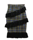 PAMEO POSE(パメオポーズ)の古着「スパイラルスカート」 ネイビー