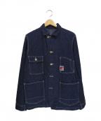 TCB jeans(ティーシービー ジーンズ)の古着「デニムカバーオール」|インディゴ