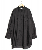 Maison Margiela 4(メゾンマルジェラ4)の古着「オーバーサイズシャツ」|ブラック