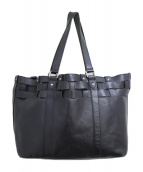 JUNYA WATANABE COMME des GARCONS(ジュンヤワタナベコムデギャルソン)の古着「メッシュレザートートバッグ」 ブラック