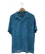 DOUBLE RAINBOUU×monkey time(ダブルレインボウ×モンキータイム)の古着「ハワイアンシャツ」|ブルー×グリーン