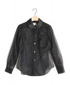COMME des GARCONS(コムデギャルソン)の古着「チュールレイヤードシャツ」|ブラック