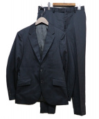 MENS BIGI(メンズビギ)の古着「ストライプ2Bスーツ」|ネイビー
