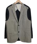 LANVIN(ランバン)の古着「切替ジャケット」 グレー×ネイビー