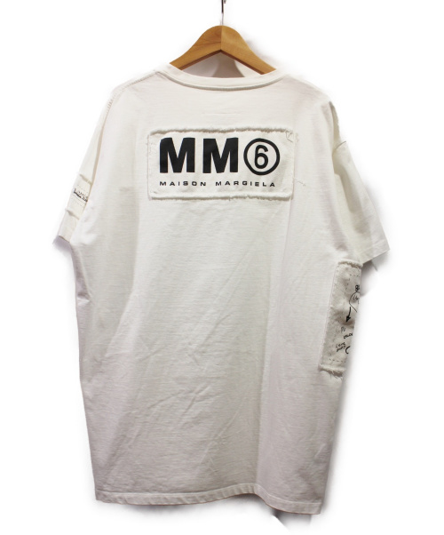 MM6(エムエムシックス)MM6 (エムエムシックス) ビッグシルエットTシャツ ホワイト サイズ:XSの古着・服飾アイテム